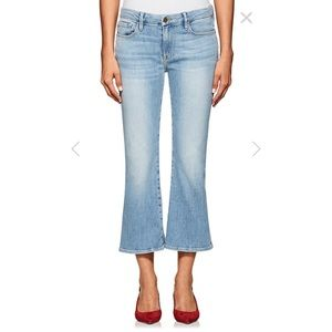 NWOT Frame Le Crop Mini Boot jeans in kitwood